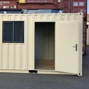 installed sipping container door