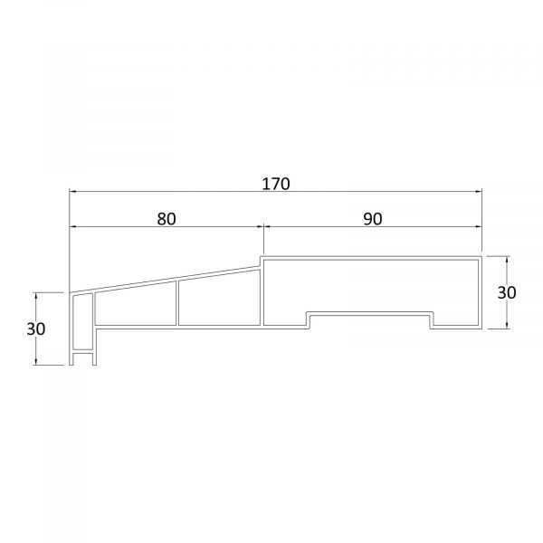 Door sill technical drawing