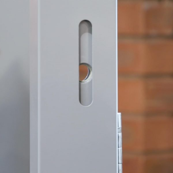 Panels fitted to door frame