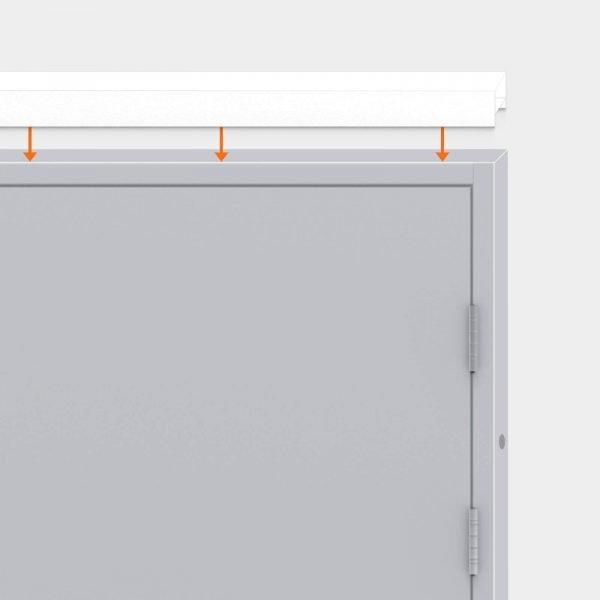 Over head panel for Latham's steel door